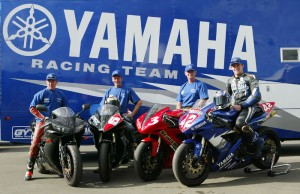Lee at a Yamaha Photoshoot at Queensland Raceway